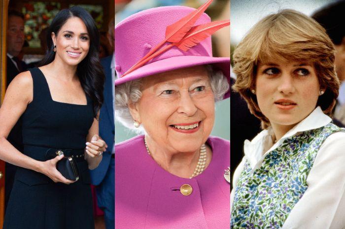 Ratu Elizabeth II lebih sayang pada Meghan Markle ketimbang Lady Diana?