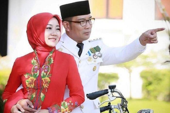 Ridwan Kamil dan istri.