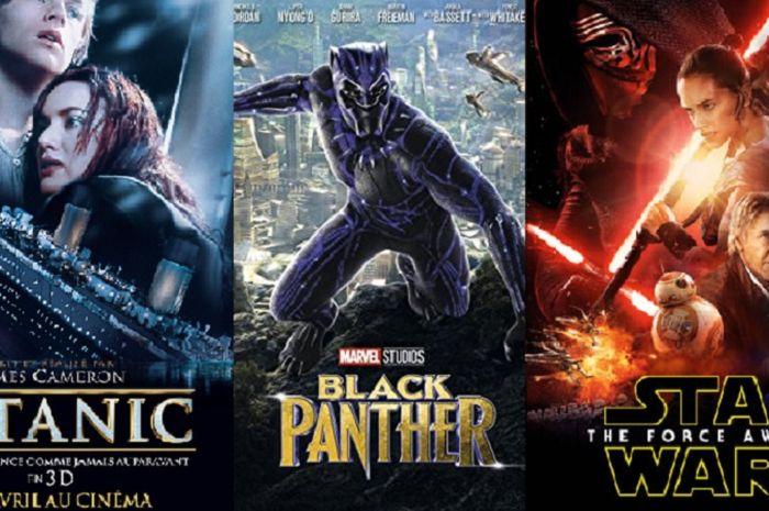 Salah tiga film box office terlaris tahun di sepanjang masa yang dikutip dari boxofficemojo