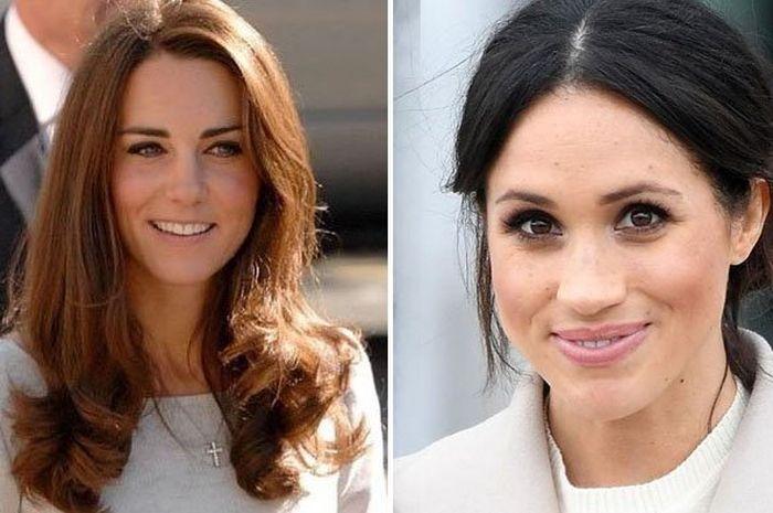 Perbedaan gaya saat Kate Middleton dan Meghan Markle tampil di depan publik