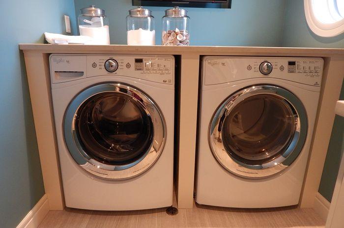 Ilustrasi mesin cuci front load