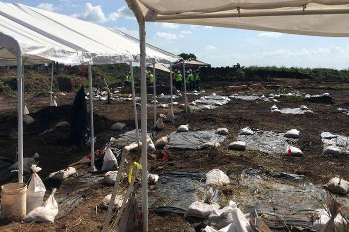 Situs penggalian tempat ditemukannya 95 kerangka budak kulit hitam di Texas.