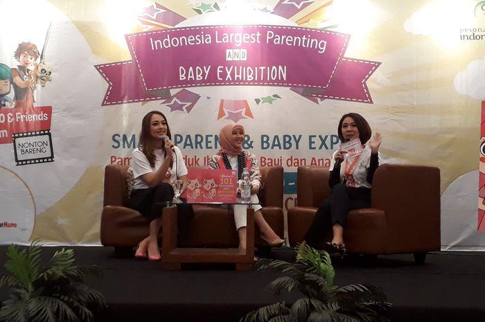 Peluncuran buku Mommy.101:101 Perawatan Bayi di JCC Senayan, Sabtu (28/7).