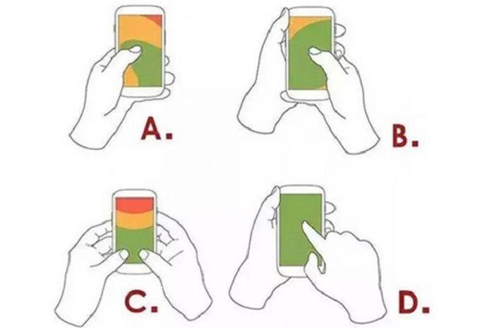 Cara memegang ponsel ungkapkan peribadian Anda