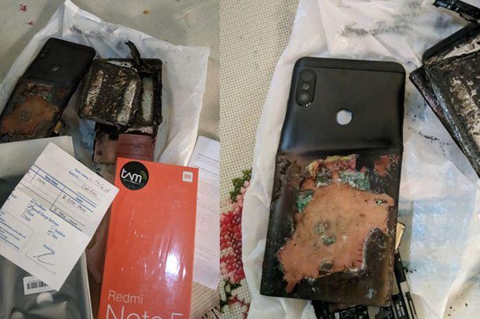 Foto ponsel Xiaomi yang meledak