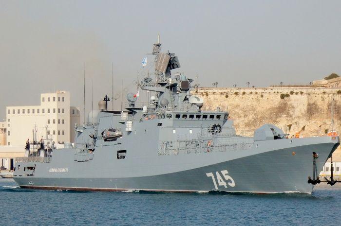 Kapal perang Rusia Admiral Grigorovich.