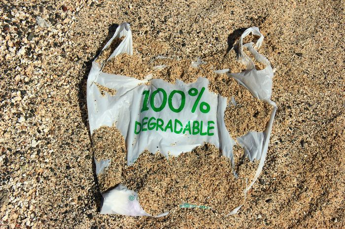 Ilustrasi plastik bio degradable