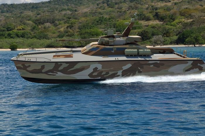 Ilustrasi tank boat Antasena