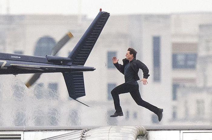 Aksi adegan Tom Cruise berlari