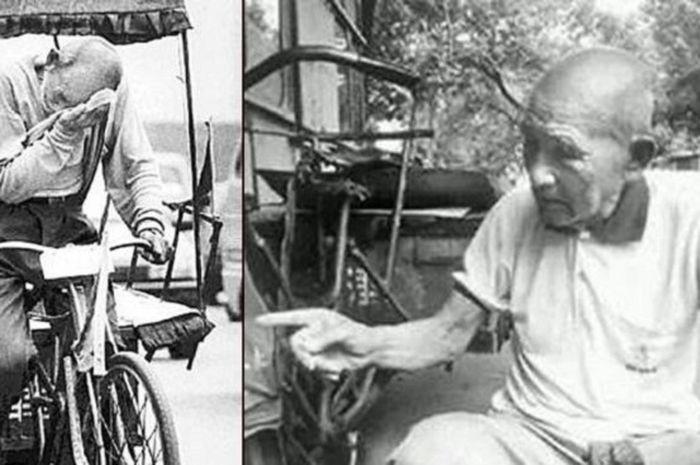 Kisah Bai Fang Li Tukang becak yang menyumbang ratusan juta
