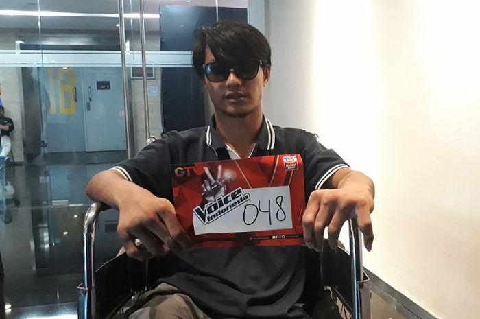 Fadillah saat ditemui Grid.ID di tengah menunggu panggilan audisi The Voice Indonesia di kawasan Kebon Jeruk, Jakarta Barat, Sabtu (4/8/2018).