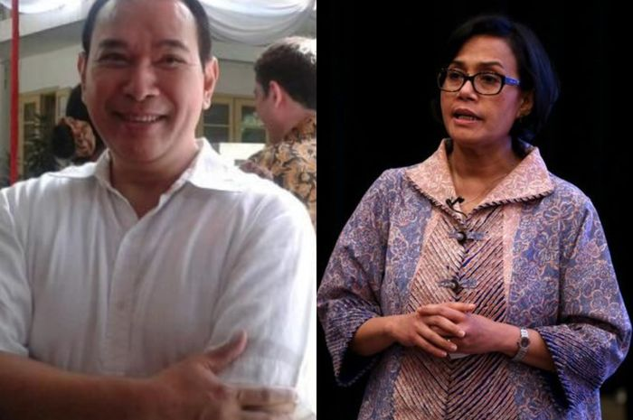Kolase Tommy Soeharto dan Sri Mulyani