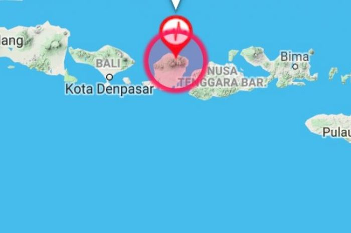 Gempa tektonik Lombok.