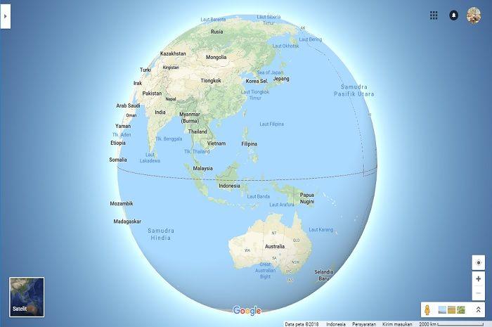 Google Maps Tolak Teori Konspirasi Bumi Datar Lewat Fitur Terbarunya