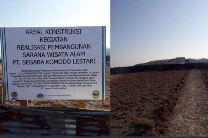 Area di Pulau Rinca, Taman Nasional Komodo, Nusa Tenggara Timur yang akan menjadi lokasi pembangunan sarana penunjang wisata yakni restoran.
