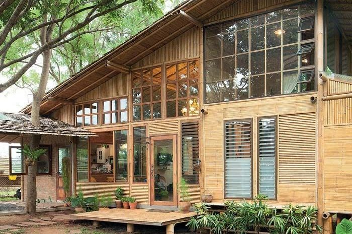 99 Koleksi Gambar Rumah Bilik Bambu Sederhana HD Terbaik