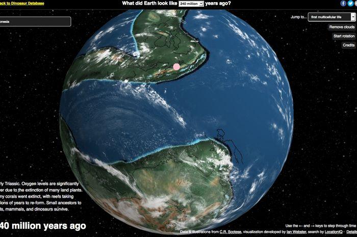 Indonesia 240 juta tahun lalu.