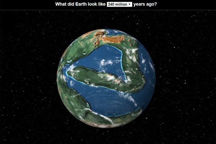 Rupa Bumi ratusan tahun yang lalu.