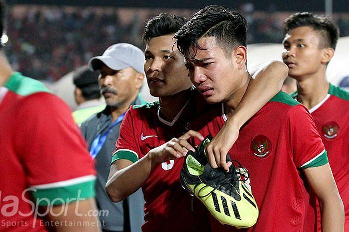 Brylian Aldamas, gelandang Timnas U16 yang menangis saat berhasil masuk final Piala AFF U-16