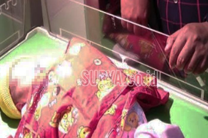 Bayi malang yang tak diakui ibunya sendiri, dirawat di RSUD Mardi Waluyo, Kota Blitar.