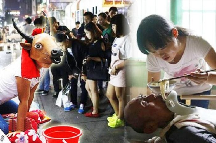 Hao Dongdong rela menjadi sapi dengan ayahnya yang lumpuh.