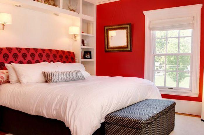 Contek 4 Desain Kamar Tidur Bernuansa Merah Warna