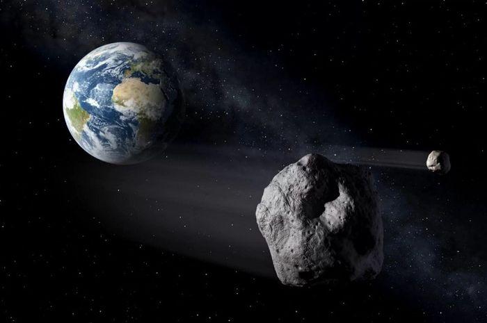 Ilustrasi bulan-bulan mini Bumi.