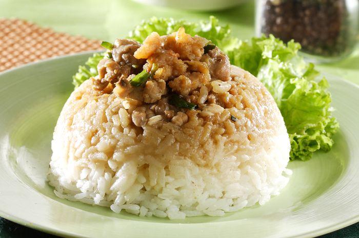 Nasi Tim Ayam Udang
