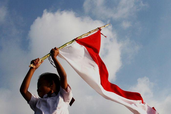 Ilustrasi pembawa bendera Indionesia