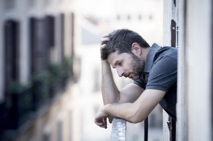 Ilustrasi pria kesepian