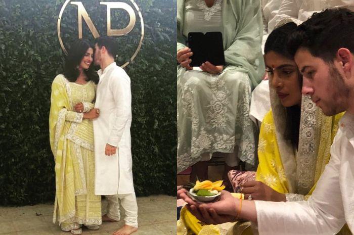 Intip Foto-foto Prosesi Upacara Roka yang Dilakukan Priyanka Chopra dan Nick Jonas