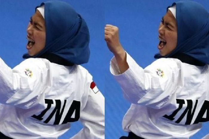 Beri Emas Pertama Untuk Indonesia, Defia Rosmaniar Atlet Taekwondo Cantik dan Berhijab