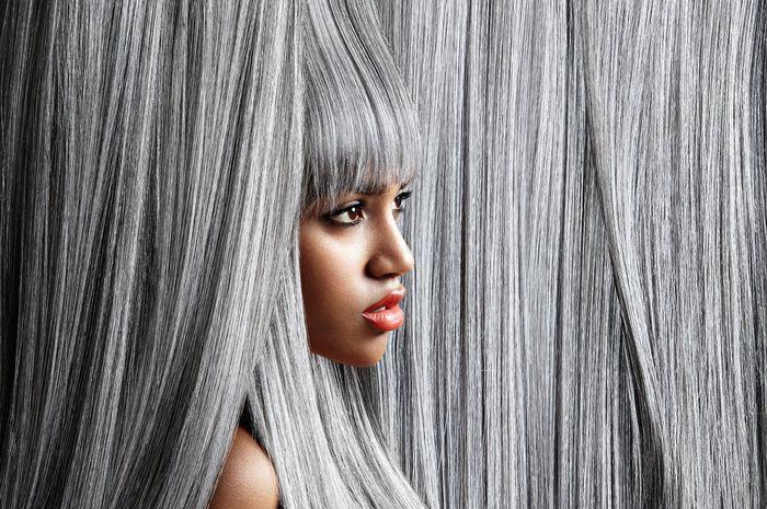 warna rambut abu-abu/silver