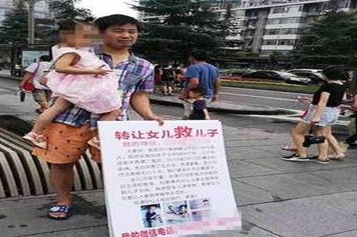 Liang saat akan menjual putrinya