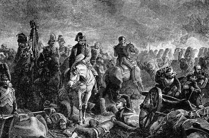 Napoleon Bonaparte saat Pertempuran Waterloo.