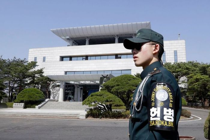 Seorang tentara Korea Selatan.