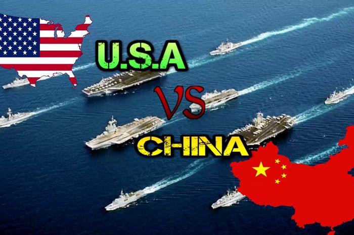 China Vs Amerika ilustrasi