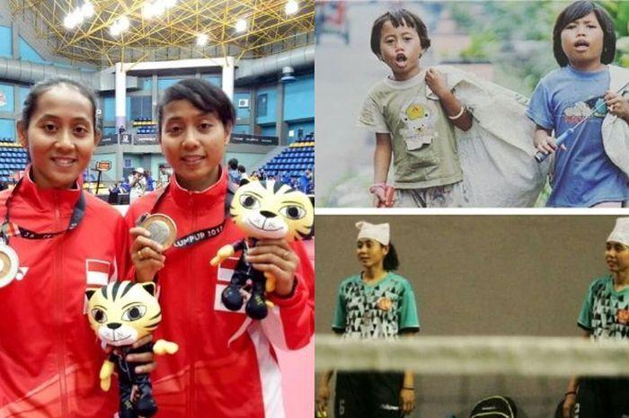 lena dan Leni atlet sepak takraw Indonesia.