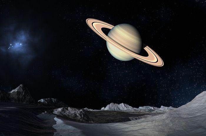 Ilustrasi planet di antariksa