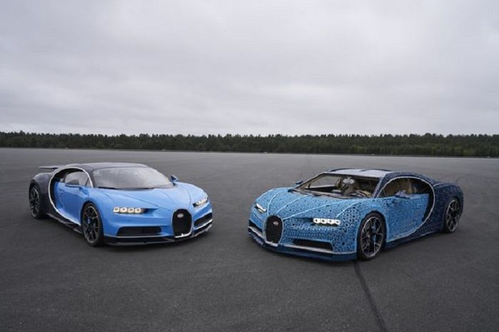 Bugatti Chiron dan Lego Chiron