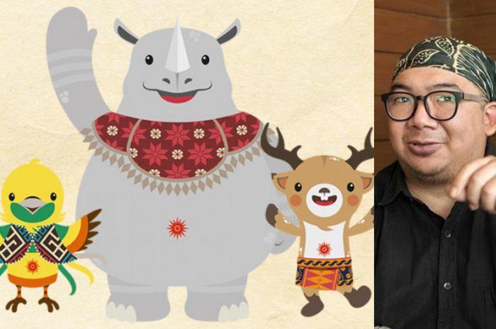 Jefferson Edri kreator maskot Asian Games