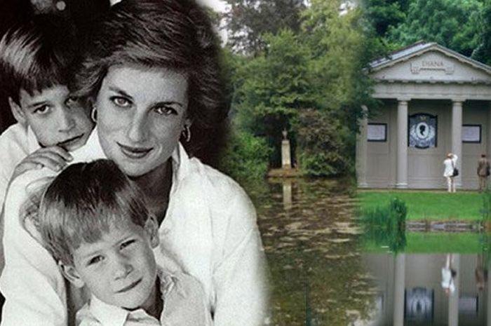 Putri Diana dan dua putranya