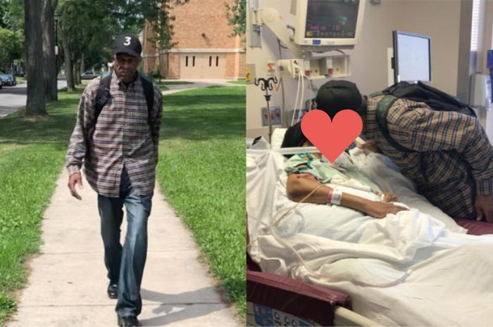 Luther Younge rela berjalan jauh demi kunjungi istrinya yang didiagnosis tumor otak