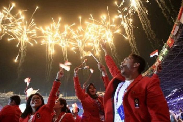 Suasana Opening Ceremony Asian Games 2018 (INASGOC).