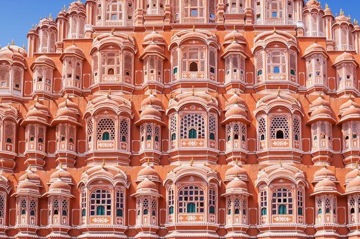 Hawa Mahal, istana berwarna pink di Jaipur India