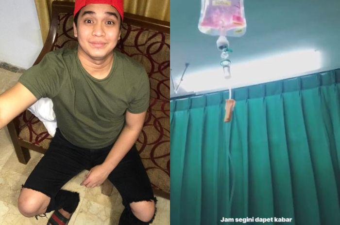 Billy Syahputra terbaring di rumah sakit dan diinfus