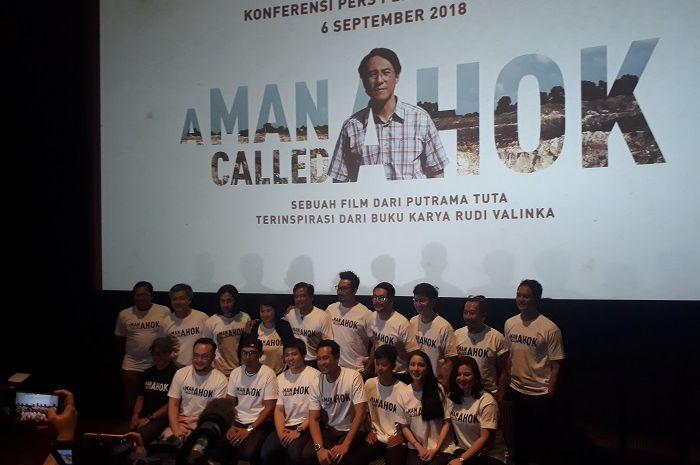 Jumpa pers peluncuran Teaser film A Man Called Ahok di kawasan Cikini, Jakarta Pusat, Kamis (6/9/2018).
