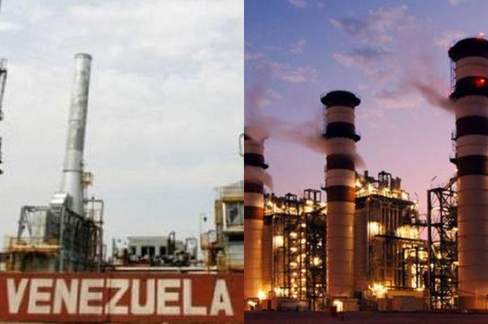 Minyak Venezuela (kiri) dan minyak Kuwait (kanan).