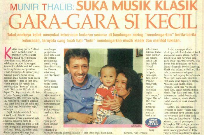 Munir Thalib ketularan suka musik klasik dari anaknya.