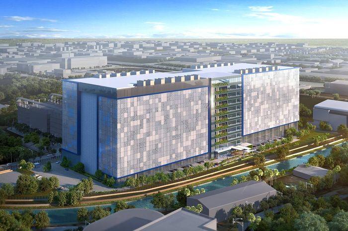 Ilustrasi denah data center Facebook di Singapura
